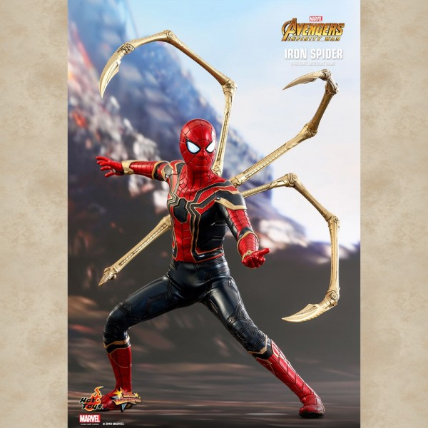 Hot Toys Figur Iron Spider - Avengers: Infinity War
