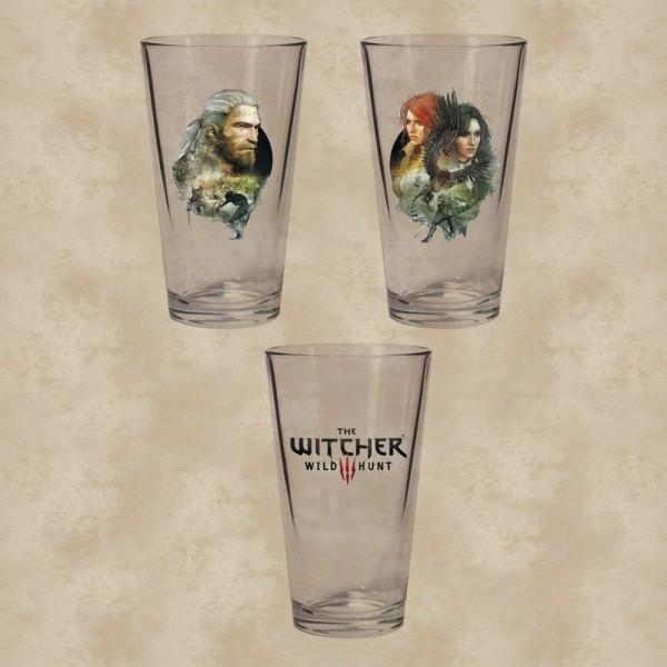 Geralt, Triss und Yennefer Gläserset - The Witcher