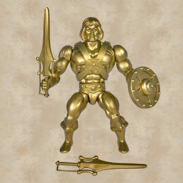 Vintage Actionfigur Gold He-Man - Masters of the Universe
