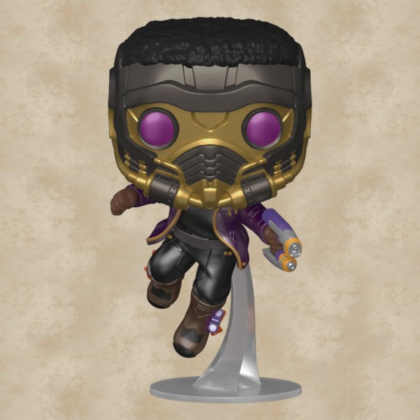 Funko POP! T'Challa Star-Lord (Metallic Special Edition) - Marvel What If…?