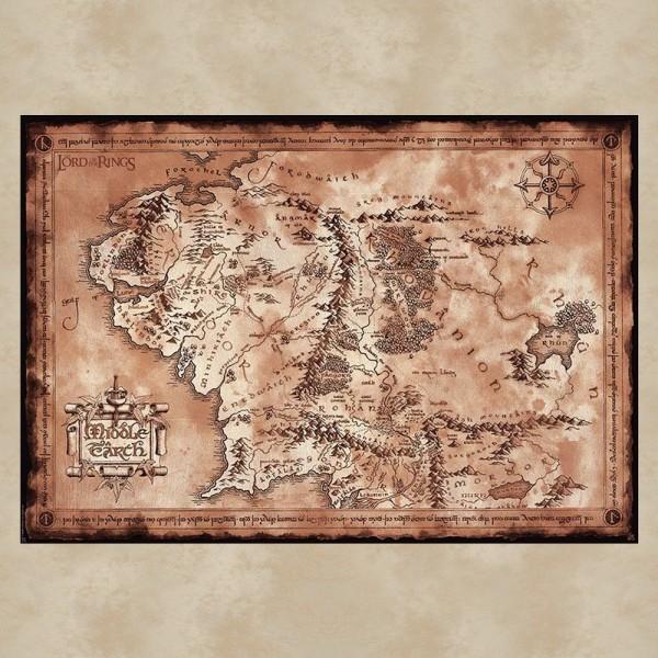 Karte Maxi Poster - Herr der Ringe