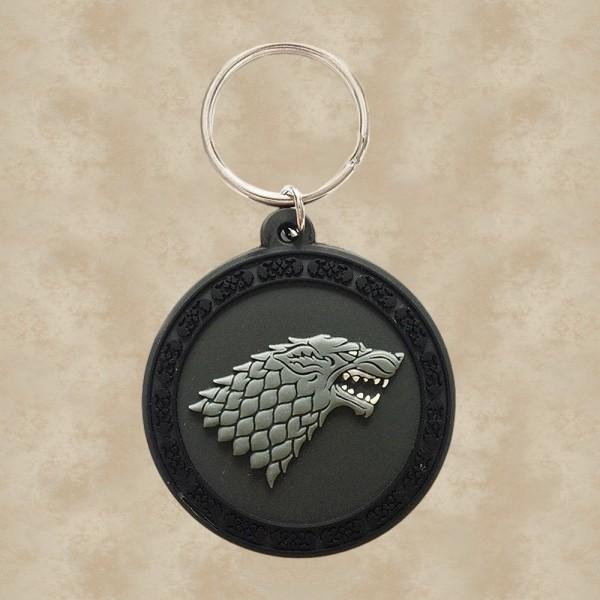 Haus Stark Wappen Gummi-Schlüsselanhänger - Game of Thrones