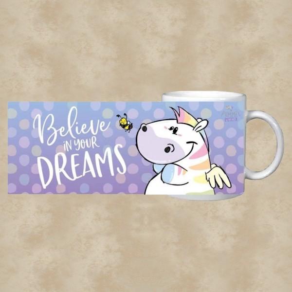 "Kaffeetasse ""Believe in your Dreams"" - Pummeleinhorn"
