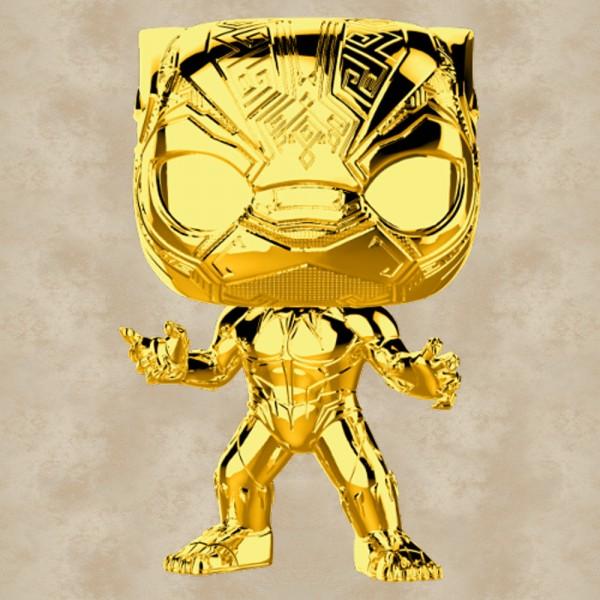 Funko POP! Black Panther (Gold Chrome) - Marvel