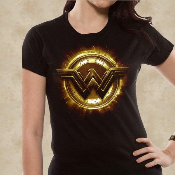 Justice League Girlie T-Shirt Wonder Woman Symbol – Justice League