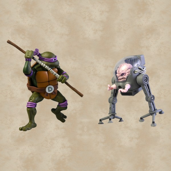 Donatello vs. Krang Action Figuren - Teenage Mutant Ninja Turtles