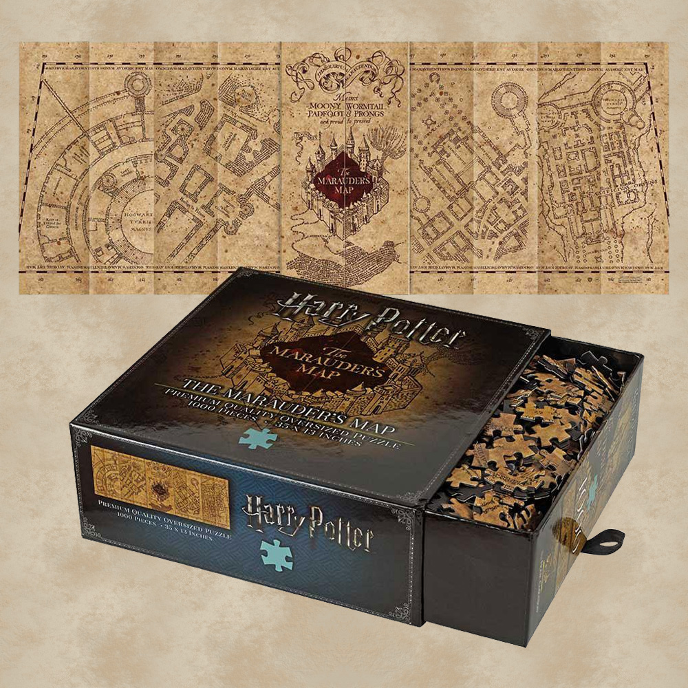 Karte Des Rumtreibers.Puzzle Karte Des Rumtreibers Harry Potter