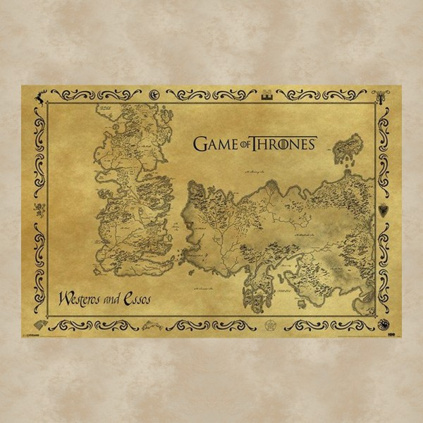 Antique Map Maxi Poster - Game of Thrones