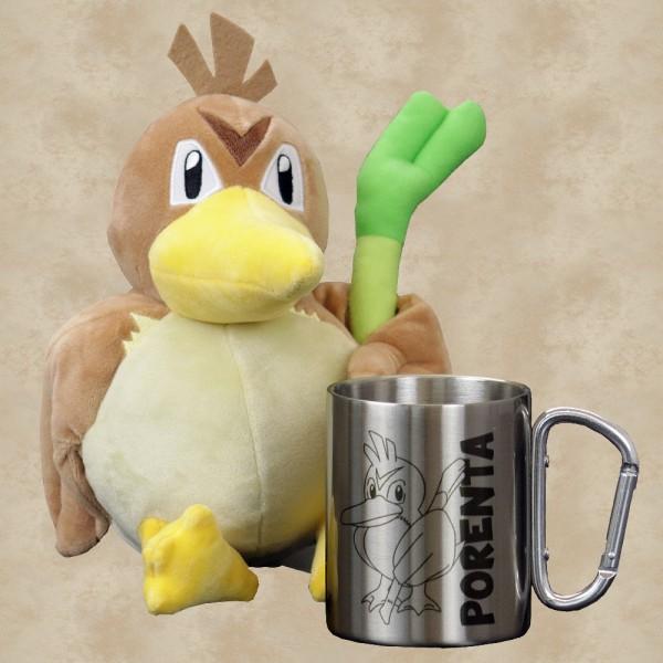 Porenta Plüschfigur mit Tasse Bundle (Exklusiv) - Pokemon