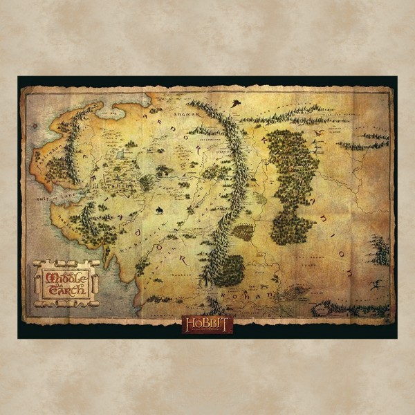 Mittelerde Karte Maxi Poster - Der Hobbit
