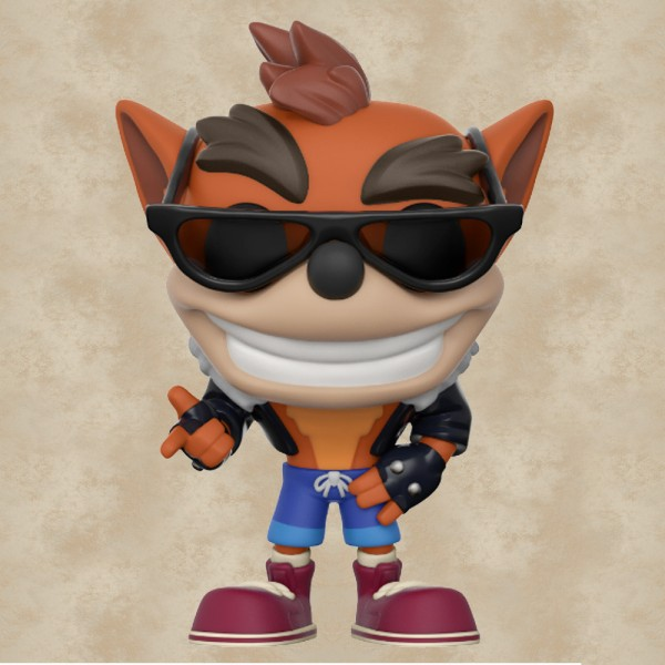 Funko POP! Crash Bandicoot Biker Outfit (Exclusive) - Crash Bandicoot