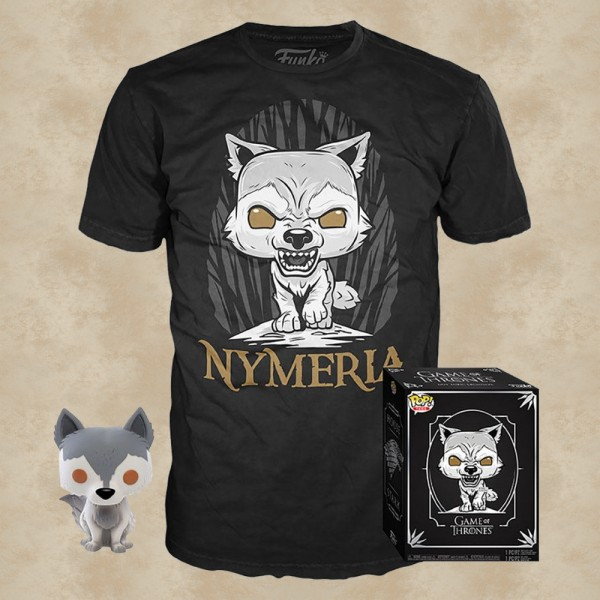 Nymeria T-Shirt mit Funko POP! - Game of Thrones