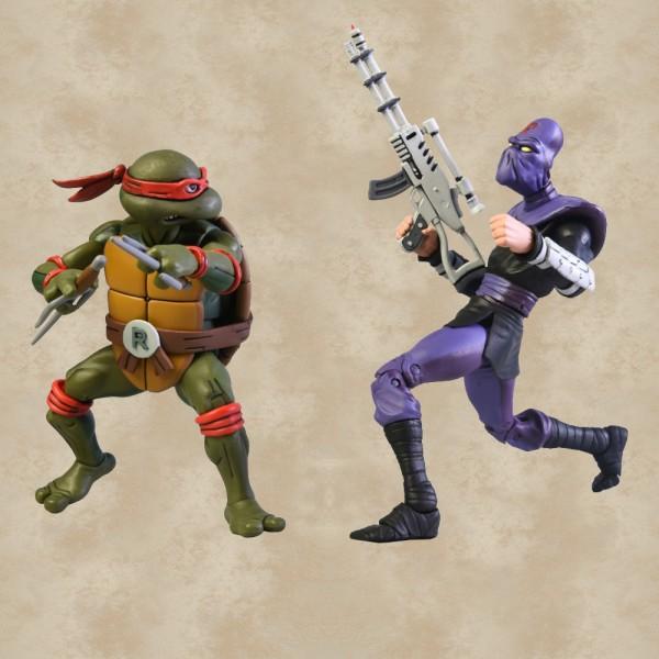 Raphael vs. Foot Soldier Action Figuren - Teenage Mutant Ninja Turtles