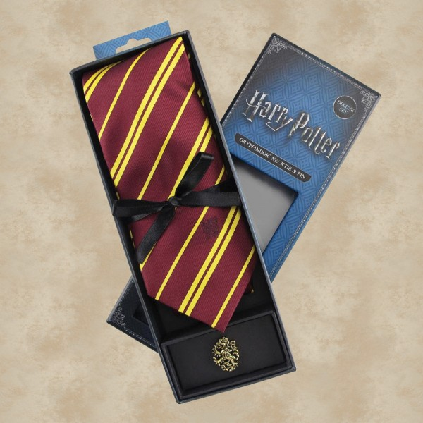 Gryffindor Krawatte mit Pin (Deluxe Box) - Harry Potter