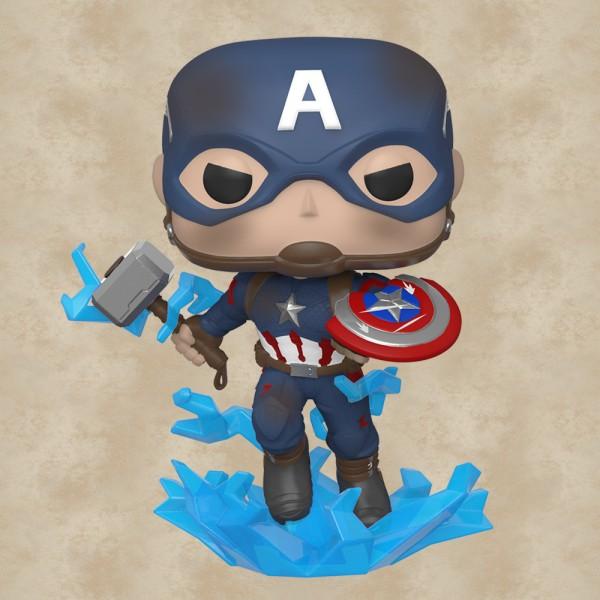 Funko POP! Captain America (Broken Shield & Mjolnir) - Avengers: Endgame