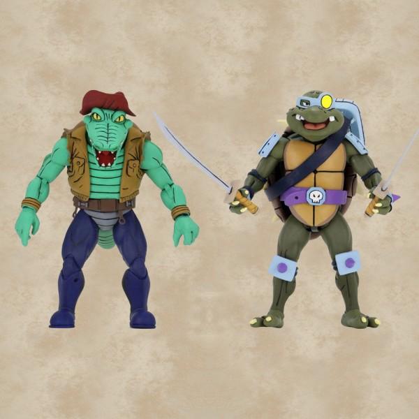 Slash und Leatherhead Action Figuren - Teenage Mutant Ninja Turtles