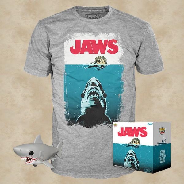 Jaws T-Shirt mit Funko POP! - Der weiße Hai
