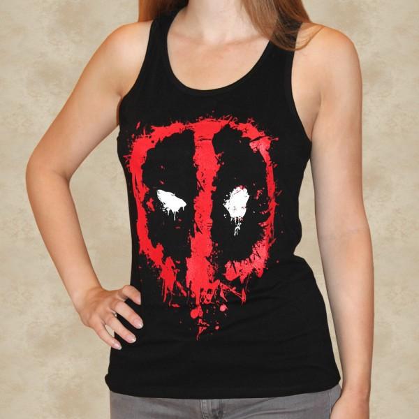 Bloody Eyes Girlie Tank Top - Deadpool